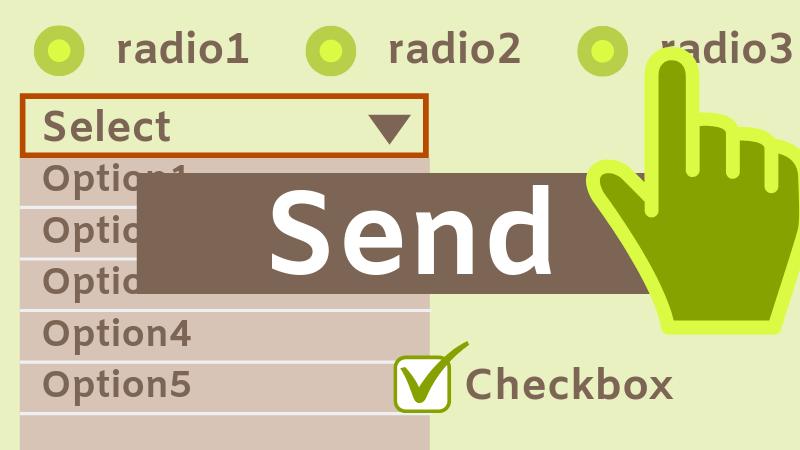 ラジオボタン・ドロップダウン・チェックボックスのフォーム